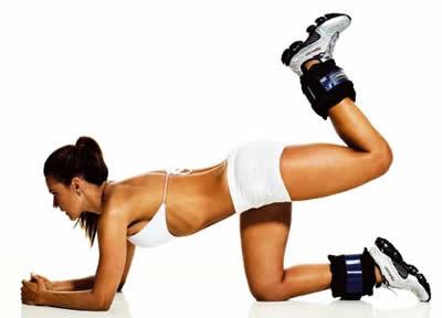 Extensión cadera rodilla flexionada