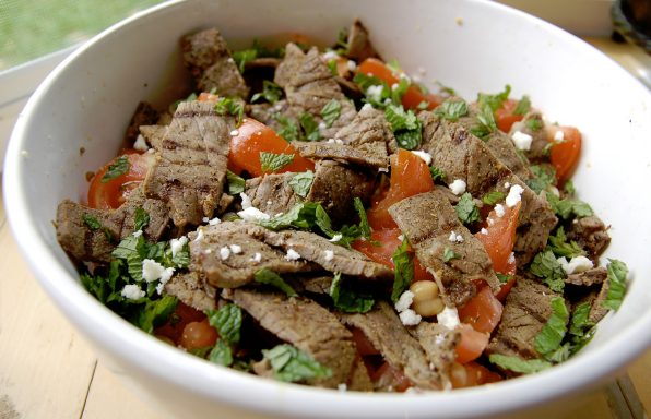 receta para ensalada de carne