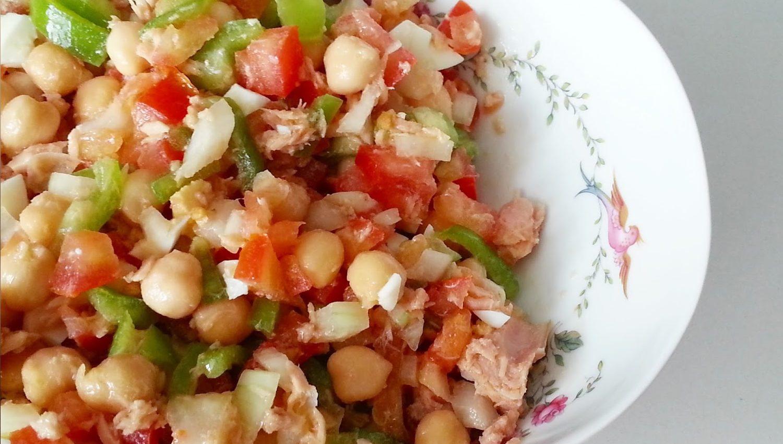 receta de ensalada de garbanzos