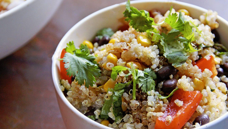 ensalada ligera con quinoa