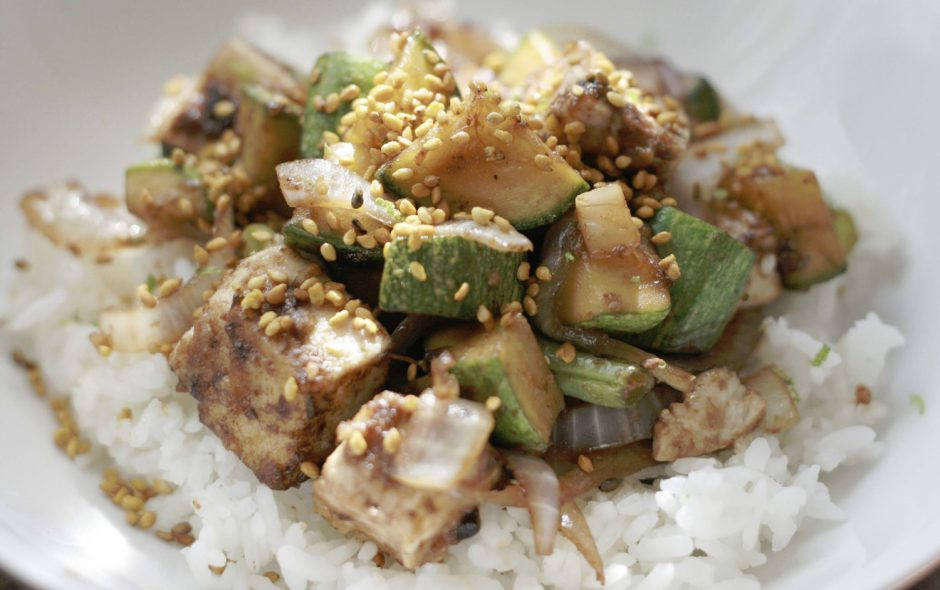 receta sana de tofu y verduras