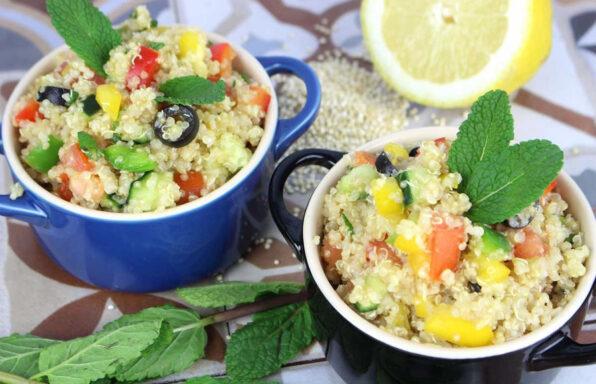 Tabule de quinoa y aguacate