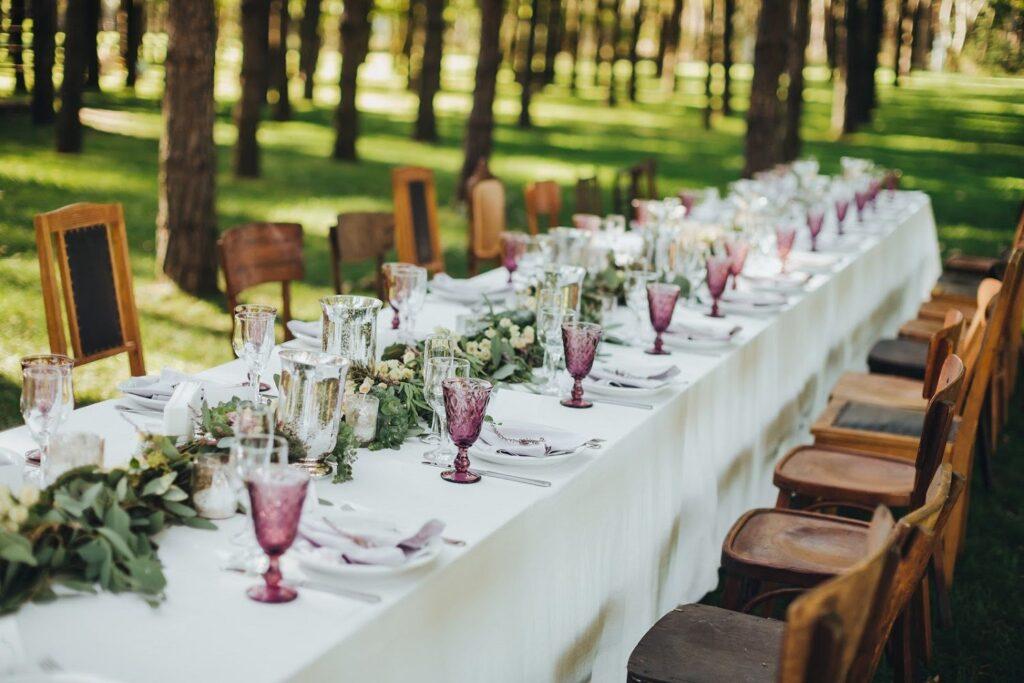 planificación de un banquete nupcial