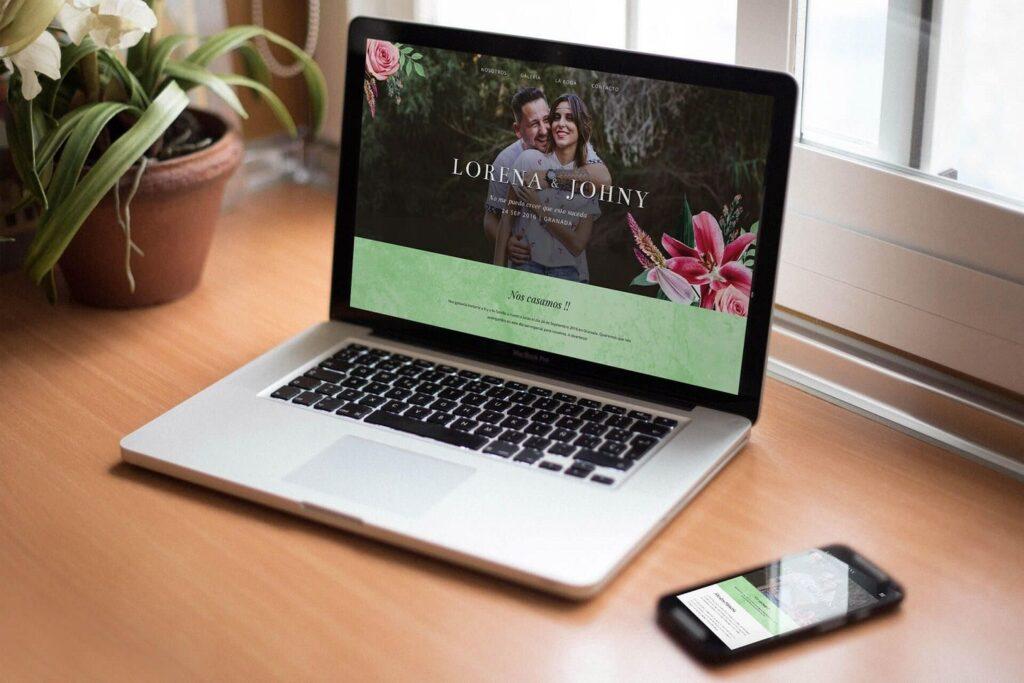 página web para una boda
