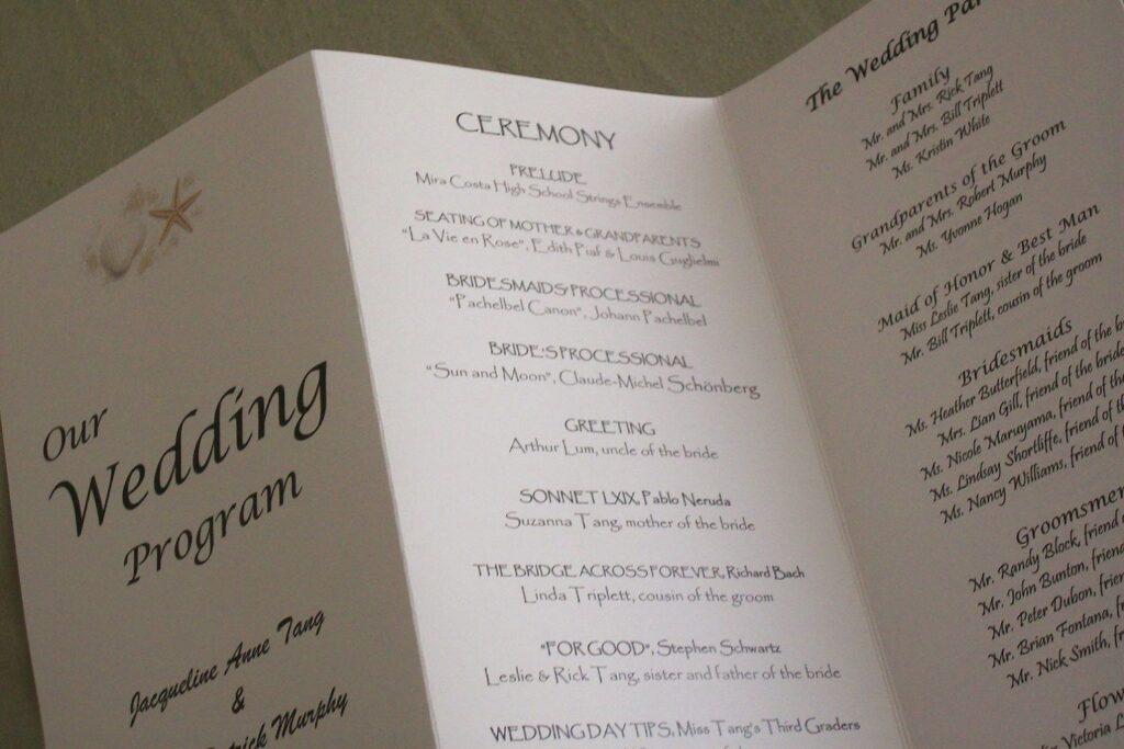 consejos para realizar un programa de bodas