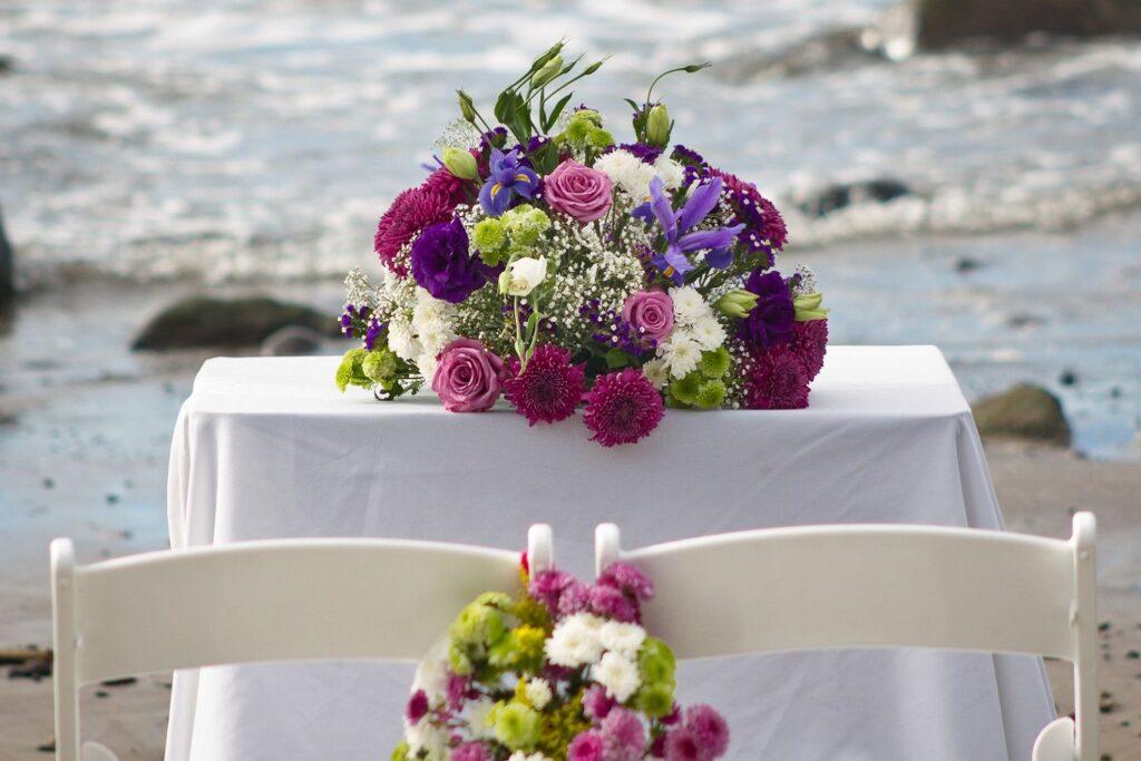 consejos para elegir adornos florales para una boda