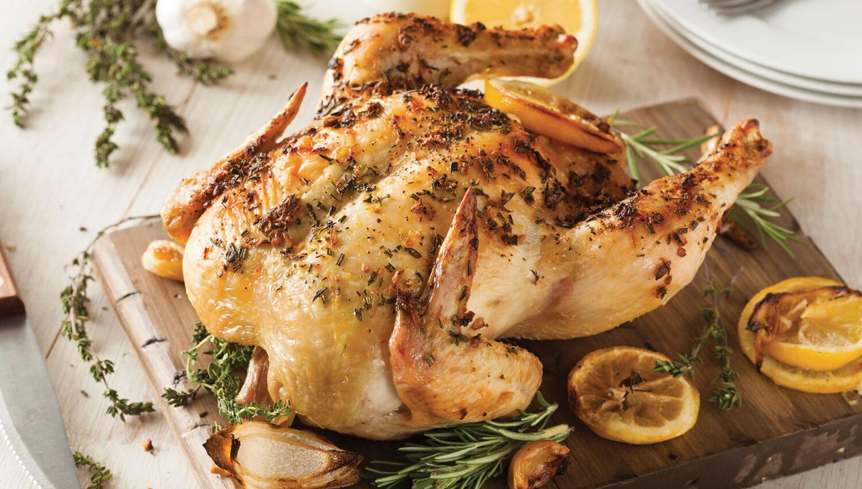 Pollo a la naranja al horno